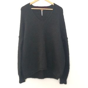 Free People V Neck Pullover Sweater Medium